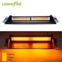 1PC 12V 24V LED COB Windshield Warning Light Car Flash Light Police Emergency Flasher Strobe Lamp