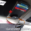 Titular do Cartão de óculos de Sol do carro Óculos Titular Bilhetes Contas De Cartões De Armazenamento Saco para BMW X4 X1 X3 X5 X6 E36 E39 E46 E30 E90 E92 F10 F30