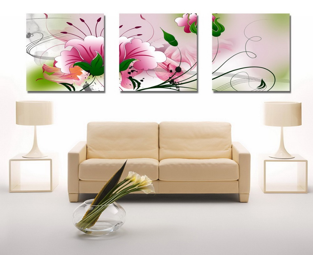 Fruit Kitchen Dinning Wall Decorative oil painting Pictures flowers  printing Modern Print Oil Painting 3 Panel