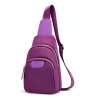 Women Waterproof Nylon Chest Bags Multi Function Small Shoulder Bag Fanny Letter Cell Phone Sling Bag