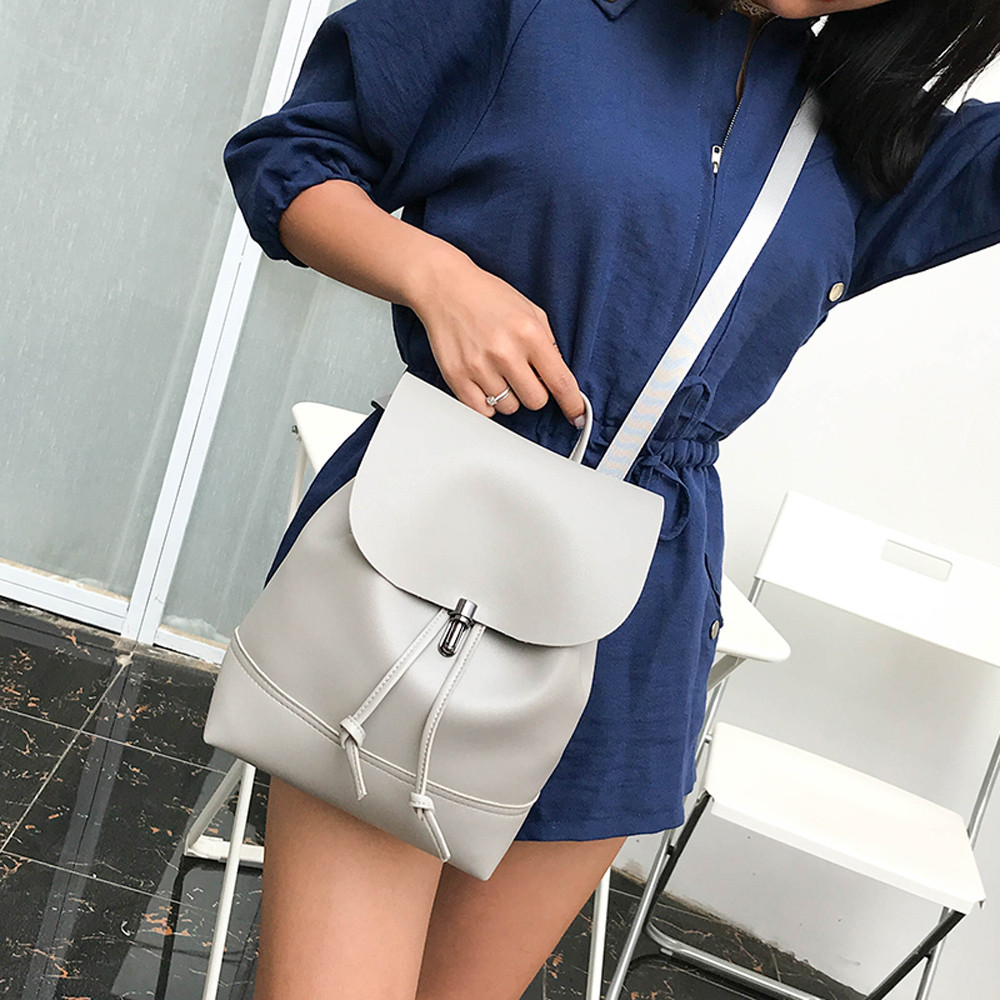 HTB12sfpa.KF3KVjSZFEq6xExFXaQ - Casual Large Capacity Shoulder Bags Vintage Pure Color Leather School Bag Backpack Satchel Women Trave Shoulder Bag