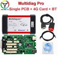 2018 Newest Multidiag PRO Single Board Green PCB 4G TF Card Bluetooth TCS CDP PRO 2014