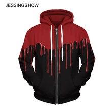 hot deal buy jessingshow women men lovers hoodies 3d pinted zip-up zipper full-sleeve hooded fleeces hoodies sweatshirts plus size wholesale