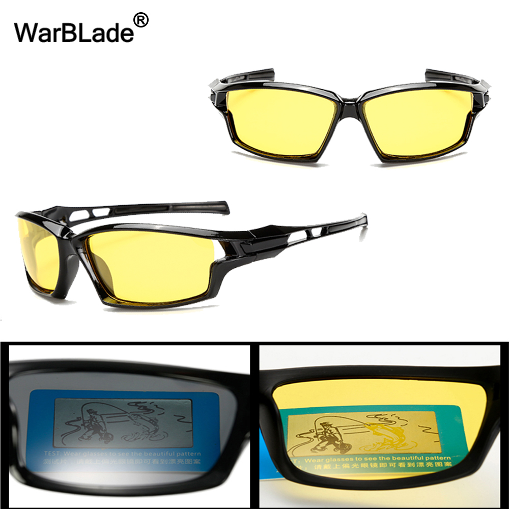917dcbe264d WarBLade New Night Vision Glasses For Polarized Driving Sunglasses Yellow  Lens UV400 Protection Night Eyewear for Driver-in Night Vision Glasses from  ...