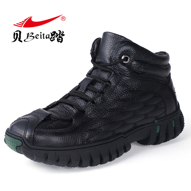 Beita 2017 New arrive Winter Men Sneakers for men Running Shoes Platform Sports Sneakers Leather Warm comfortable autumn Shoes