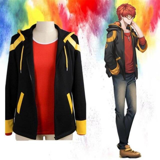 Аниме косплей куртка и футболка флис