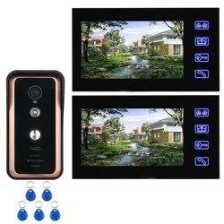Yobang seguridad RFID Control de acceso Video intercomunicador 7 pulgadas pantalla táctil cable Video timbre puerta teléfono intercomunicador sistema de cámara