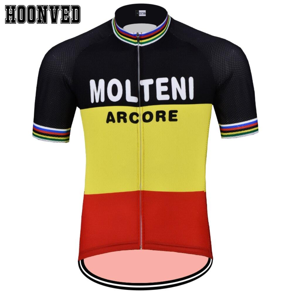 Tour de Spain Go Pro Man MOLTENI Cycling Jersey Short Sleeves Clothing  Summer Triathlon Mtb Jersey b55d74939