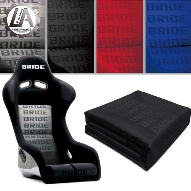 LA racing-Racing Car Bride seat Fabric Gradation full blue red black Color bride Fabric Cloth 1 Unit (around 100cm x 165cm)