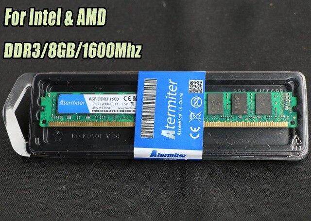 New 2GB 4GB 8GB DDR3 PC3-12800 1333Mhz 1600MHz 1866Mhz For Desktop PC DIMM Memory RAM 240 pins For intel amd Fully radiator