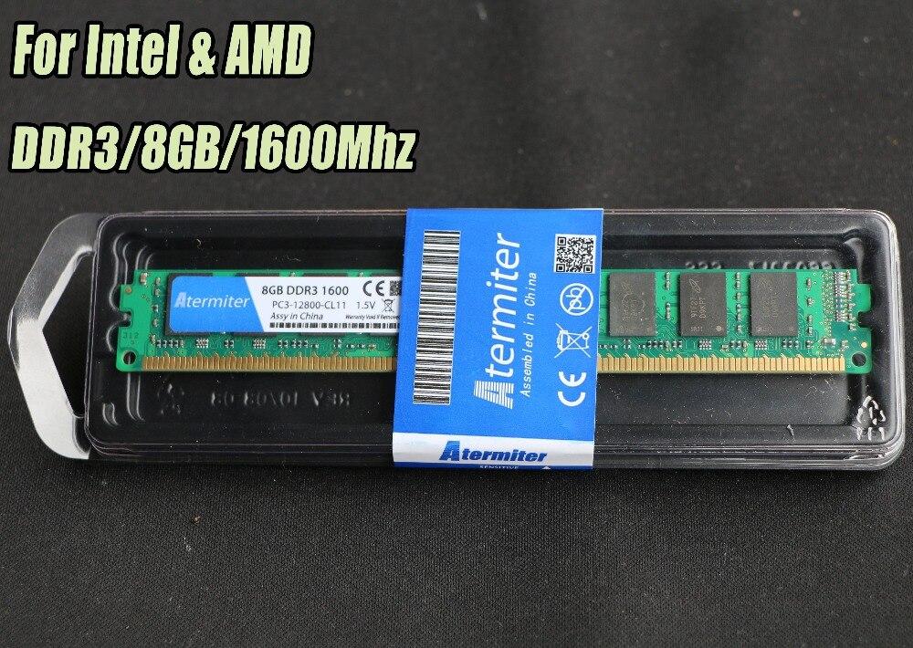 Nuevo 2 GB 4 GB 8 GB DDR3 PC3-12800 1333 Mhz 1600 MHz 1866 Mhz para PC de escritorio DIMM Memory RAM 240 pines para intel amd totalmente compatible