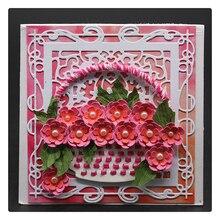 YINISE Metal Cutting Dies For Scrapbooking Stencils  Flower Basket Scrapbook DIY Album Cards Decoration Embossing Folder Die Cut