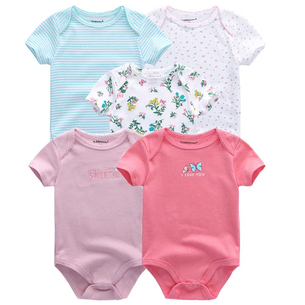5 шт./партия, детские комбинезоны 2019, с короткими рукавами, 100% хлопок, Комбинезоны Одежда для новорожденных Roupas de bebe, комбинезон для мальчиков и девочек, одежда