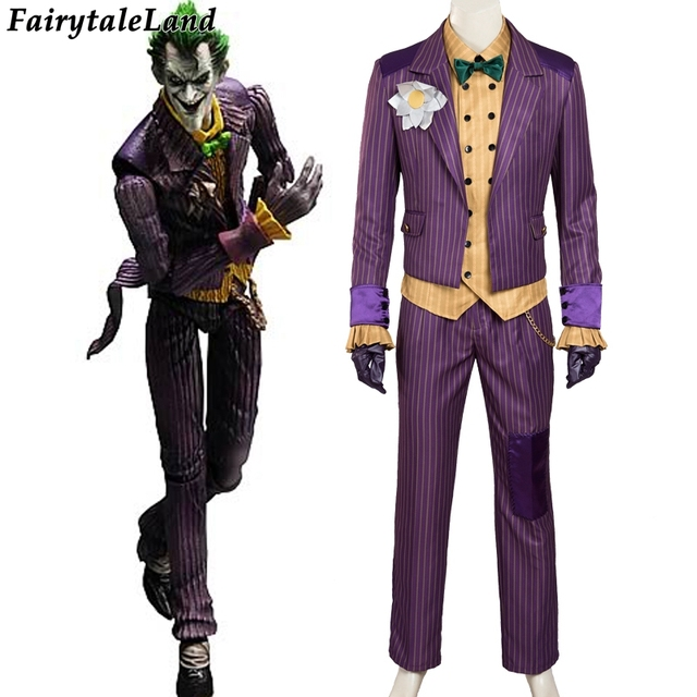 batman costume adult cosplay Joker costume Batman custom made Batman Arkham  Knight Joker cosplay costume men