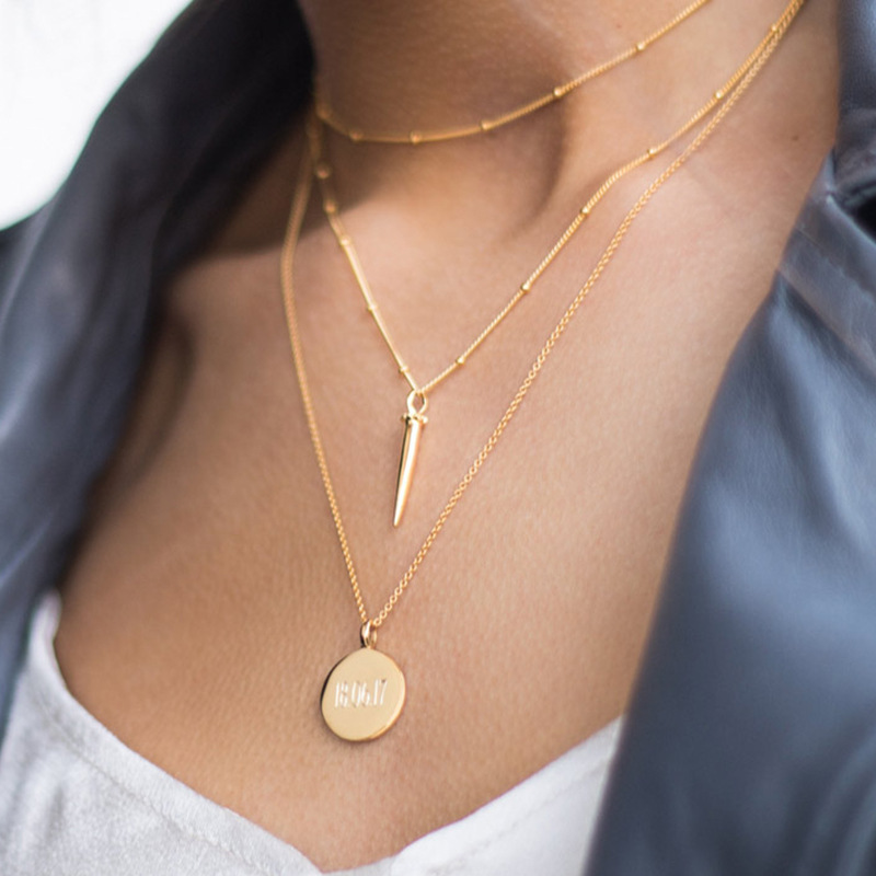 39dd51a49787 Silvology 925 Sterling Silver Warhead Mini colgante collar dorado Simple  salvaje creativo nuevo ...