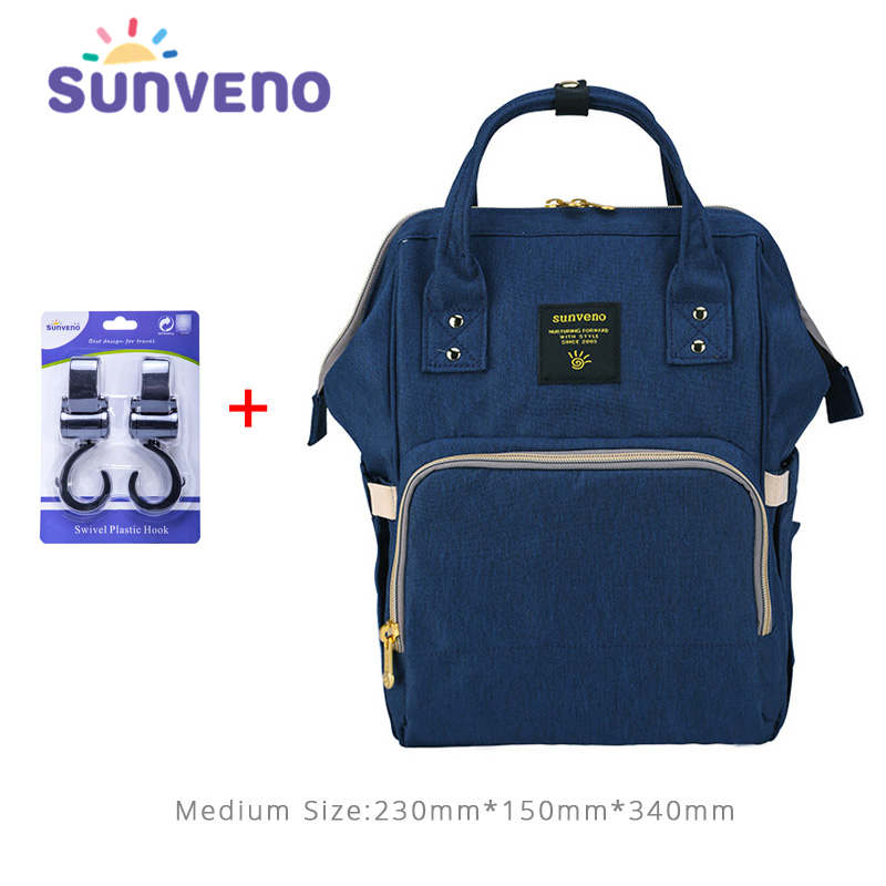 цена на Sunveno diaper bag Multifunction stroller bag waterproof nappy bag mom travel backpack Nursing maternity handbag for baby care