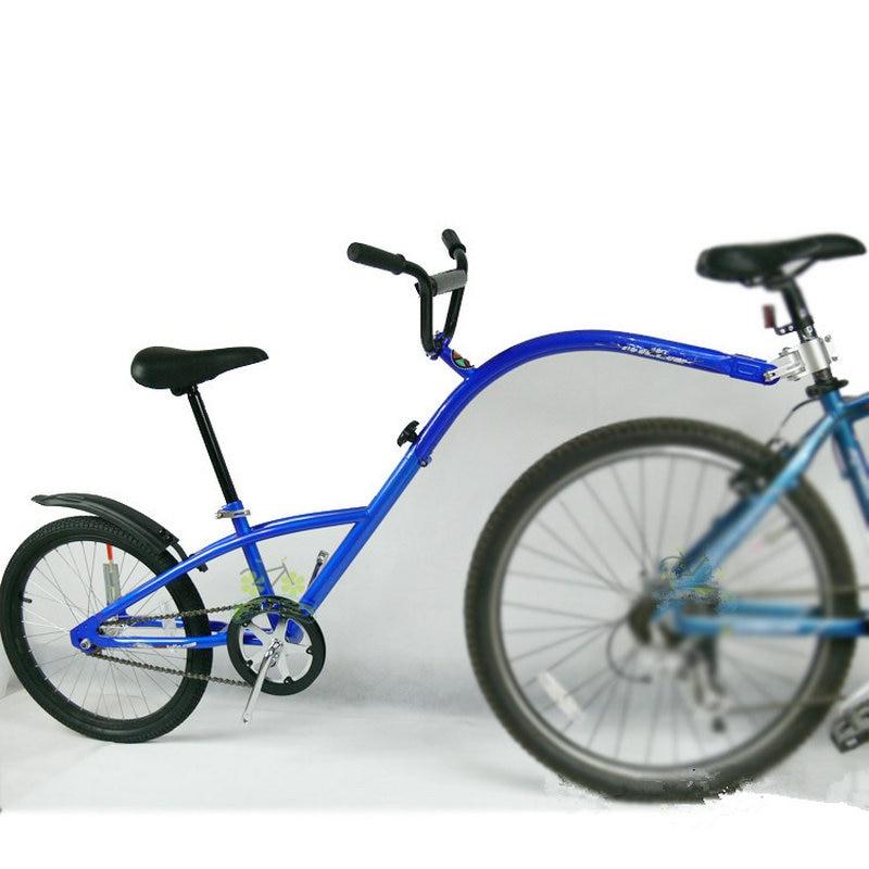 20 pouces Remorque de Vélo De Montagne, Cadre En Acier Vélo Tandem Remorque, co-Pilote Vélo Remorque avec la Roue De L'air, Mode Parent-enfant Voiture