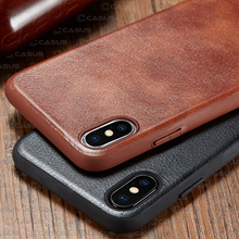 For iPhone XS Max XR X Case Luxury Vintage Leather Back Thin Slim Hard Skin Case For  iPhone X  XS 8 7 6s Plus Shockproof Case цена 2017