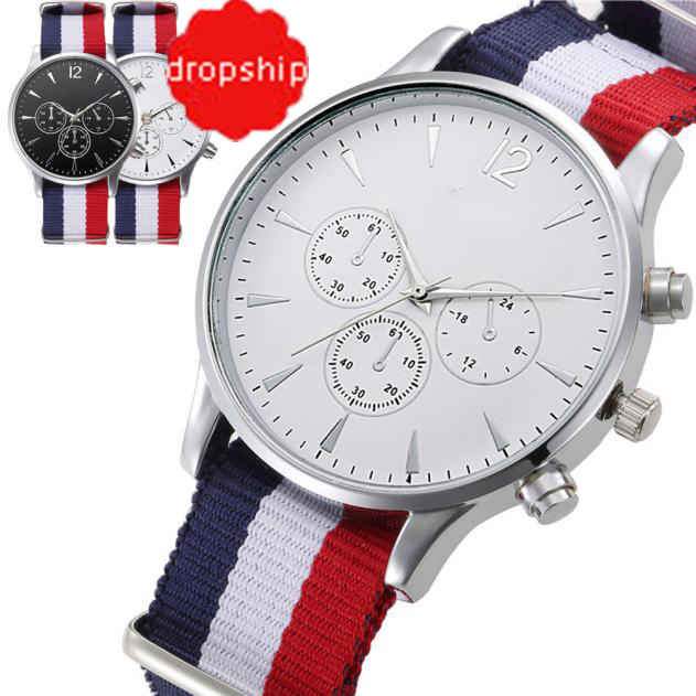 Wristwatches Bracelet Analog-Watch Male High-Quality Splendid Fashion Mens Luxury Canvas