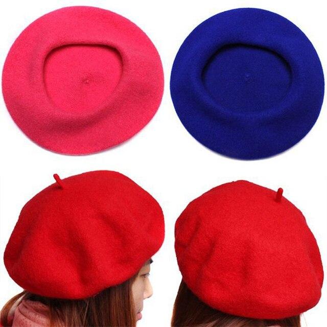 47335ef9a7529 Las mujeres de otoño y el invierno suave de lana caliente clásico boinas  fieltro artista francés