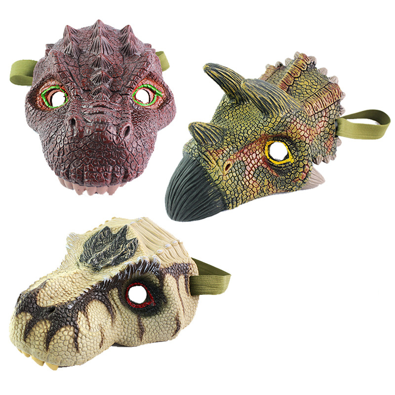 Dinosaur Toy Halloween Realistic Dinosaur Mask Toys Action & Toy Figures Gags & Practical Jokes Children Toy Gifts Drop Shipping