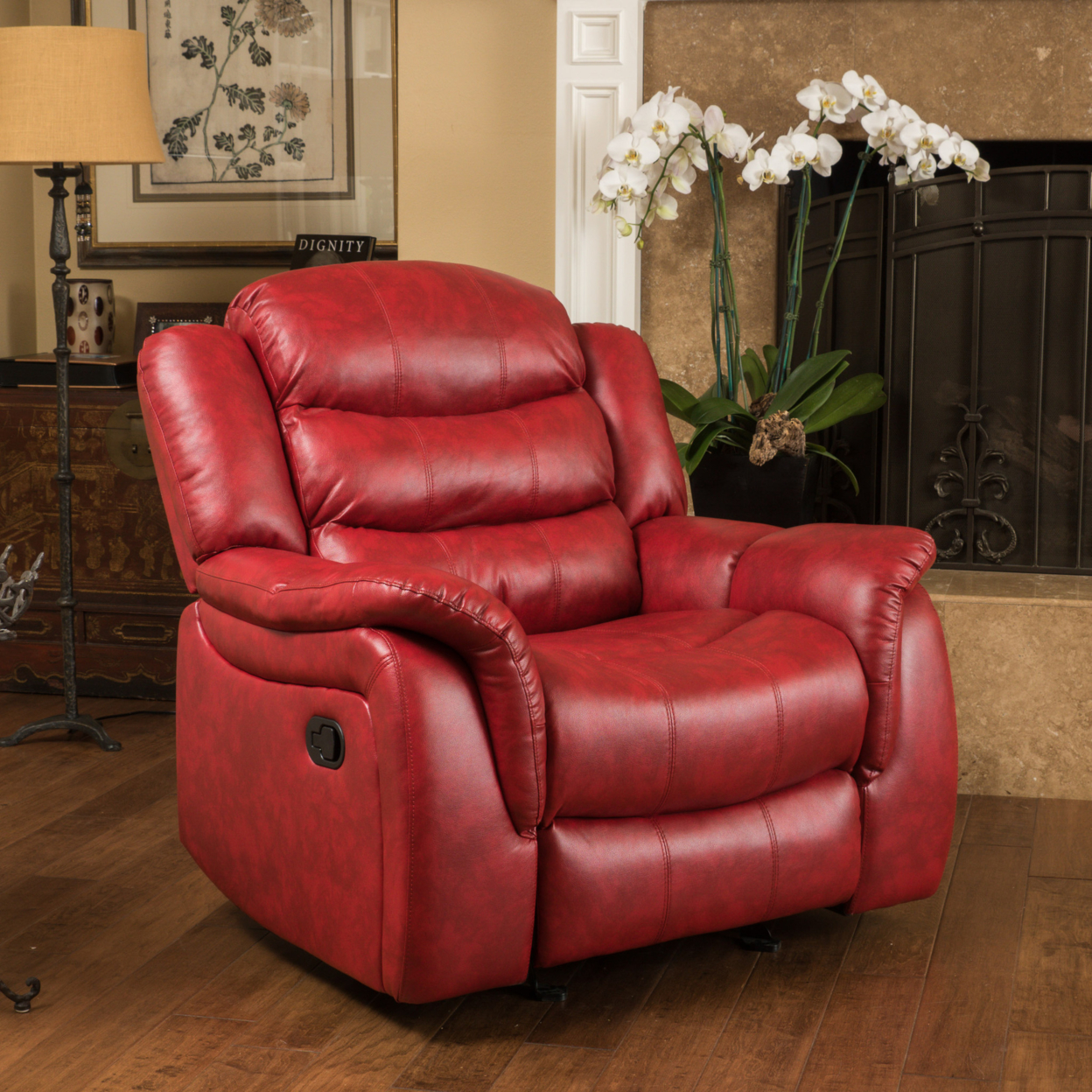 Red Recliner Chairs What Size Exercise Ball For Chair Hidal Contemporary Glider In Living Room From Furniture On Aliexpress Com Alibaba Group