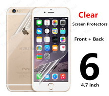 2pcs 1PCS Front 1PCS Back Protective Film Anti Scratch Clear LCD Screen Protector Guard For iphone