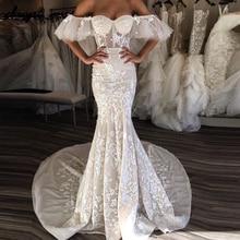 2019 Muslim Wedding Dresses Tulle Lace
