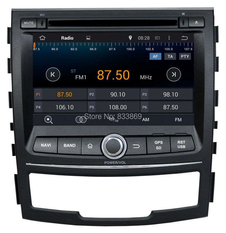 Quad Core 2 din 7″ Android 5.1 Car DVD Player for Ssangyong Korando 2010-2013 With GPS 3G/WIFI Bluetooth IPOD TV Radio USB