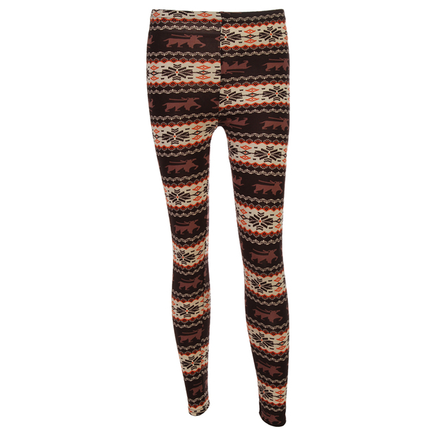 Warm Leggings with Winter Prints
