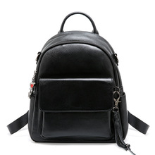 Fashion Leather Women Book Bags Backpack Black Small Designer Female Travel School Backpacks Preppy Style Bagpack High Quality
