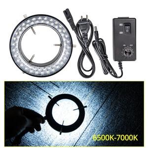 Image 4 - Foxanon LED Ring Licht Illuminator Lampe AC 110V 220V Einstellbare Stereo Mikroskop Licht 4,5 W 60 LEDs Keine flackern Kreis Licht