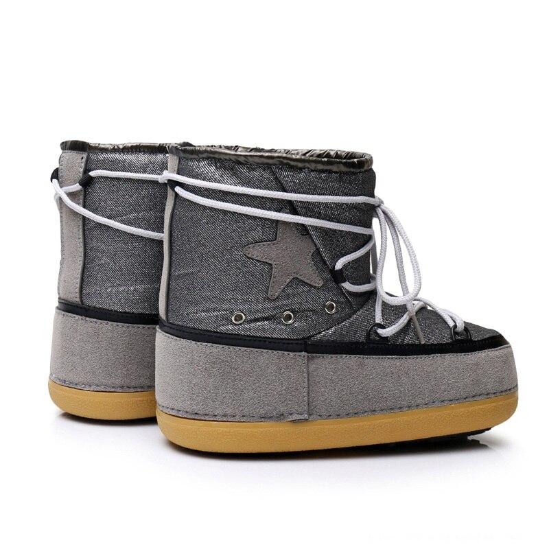 201c81cb3d ENPLEI Outono inverno mid calf botas de neve das mulheres botas botas de  esqui botas espaciais de sola grossa à prova d  água em Botas de neve de  Sapatos no ...