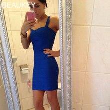 Rayon Spaghetti Strap 2016 Sweetheart Neckline High Quality Sexy Women Bodycon Bandage Dresses Wholesale Cheap Plus Size XL