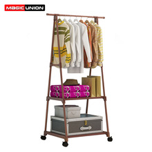 Magic Union Creative Multi functional Clothes Rack Simple Coat Rack Movable Hanger Home Bedroom Floor Standing Clothes Hanger