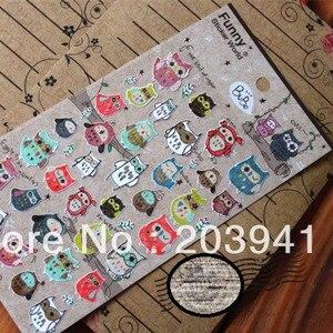 1 pack/lot corée bricolage multifonction drôle hibou décoration PVC autocollant décoration étiquette téléphone mobile autocollants cadeau