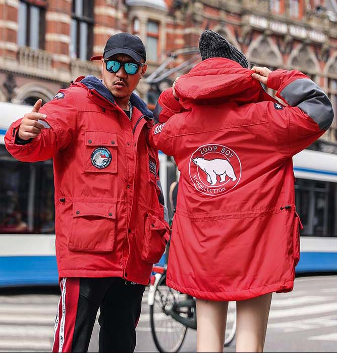 new winter fashion 2018 men's duck   down     coat   male lover couple's winter parka jacket red safari style plus oversize 5xl xxxxxl