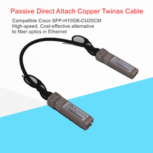 10G DAC SFP + Passive Direct Attach Copper Twinax Cable 0.2 M 30AWG สำหรับ Ubiquiti Mikrotik Zyxel arista ฯลฯ