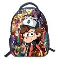 2017 Moda Dos Desenhos Animados Crianças Mochila Saco de Escola Do Jardim de Infância de Gravity Falls 14 Polegada Crianças Printing Backpack Meninas Meninos Mochila