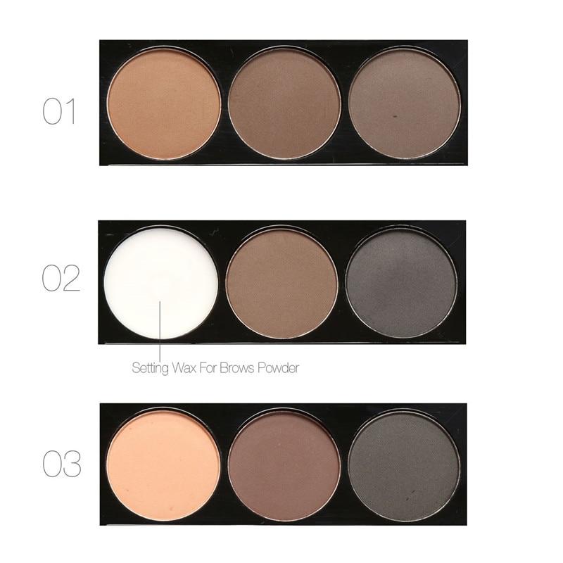 Focallure Brand Makeup 3 Color Eye Brow Cosmetics Pigment Brown