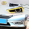 For Honda City Grace 2015 2016,Turn Yellow Signal Style Relay Waterproof ABS Car DRL 12V LED Daytime Running Light SNCN