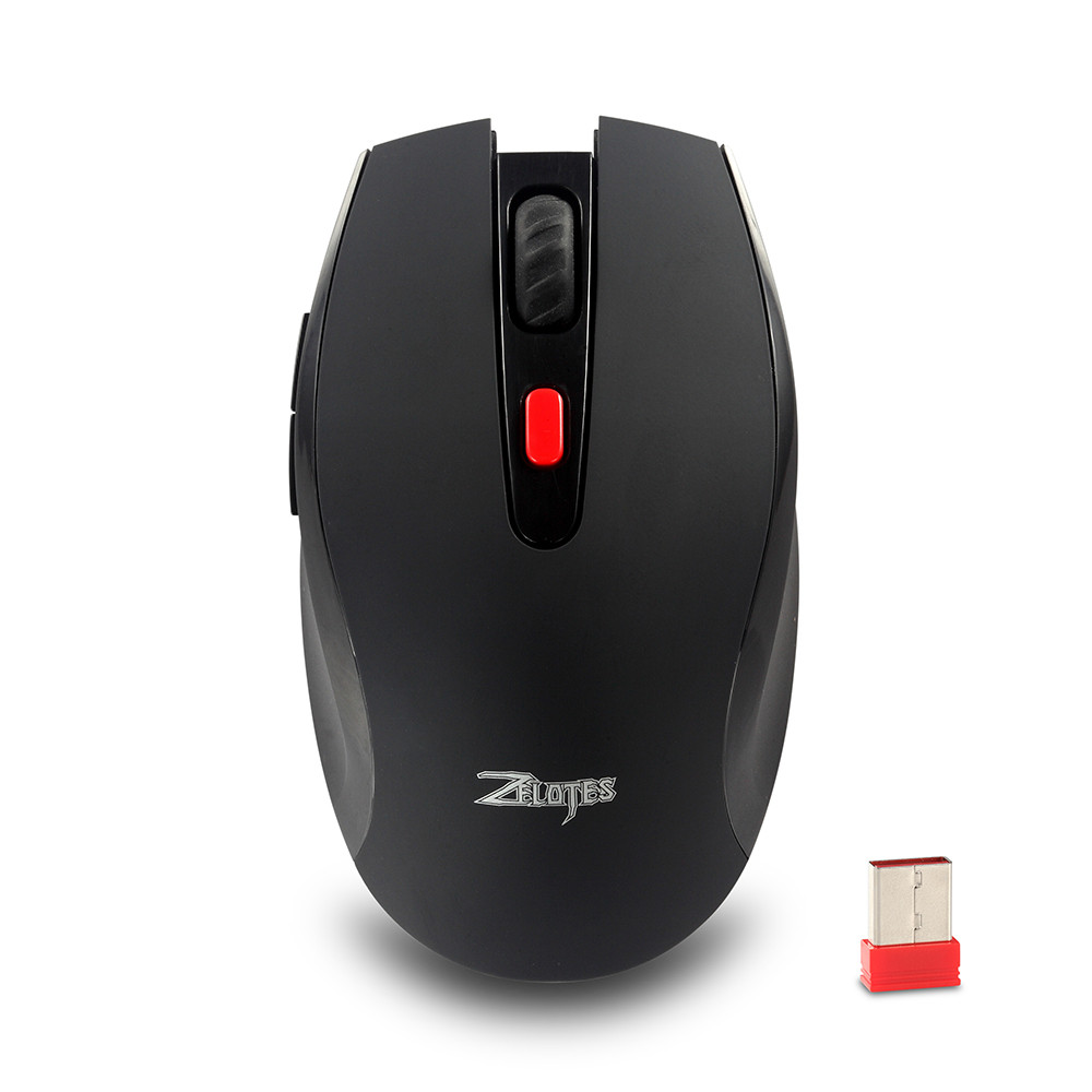 ZELOTES F13 2.4G Wireless Mouse with Nano Receiver 2400DPI Portable Mobile Gaming Mouse for Desktop Computer Mouse Gamer 0208#3 image