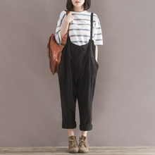 2016 new maternity pants suspenders trousers rompers jumpsuits cotton linen trousers pregnant overalls maternity clothing 16821