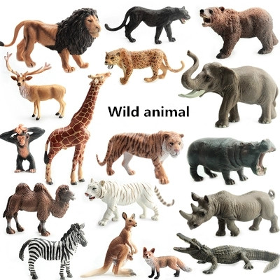 Simulation Wild animal Model Action Figures Toys zoo toy Kids Early Learning Educational Toys for Children Kids Gifts 48pcs lot action figures toy stikeez sucker kids silicon toys minifigures capsule children gift