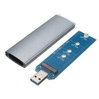 M 2 NGFF SSD SATA To USB 3 0 Converter Adapter Case External Enclosure Storage Case