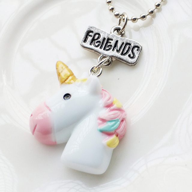 2 PIECE BEST FRIEND UNICORN NECKLACE