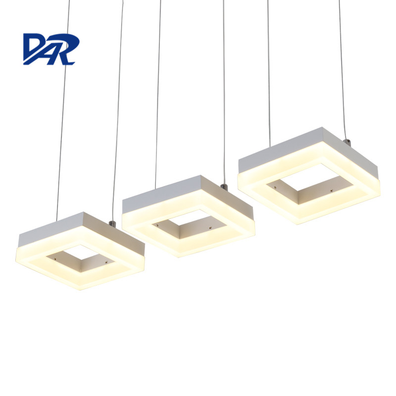 Free Shipping Modern Led Pendant Lights For Dining Room Acrylic Rectangle Hanging Lamp lustres para sala de jantar lamparas acecamp 1577 portable outdoor stainless steel foldabl spoon silver