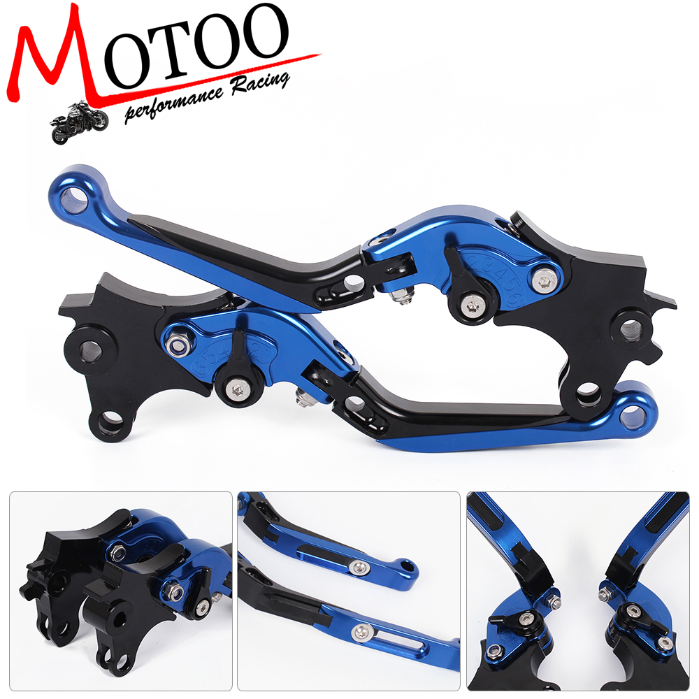 Motoo - B-77 C-75 Adjustable CNC 3D Extendable Folding Brake Clutch Levers For BMW R NINE T 2014-2016  R1200R/R1200RS 2015-2017