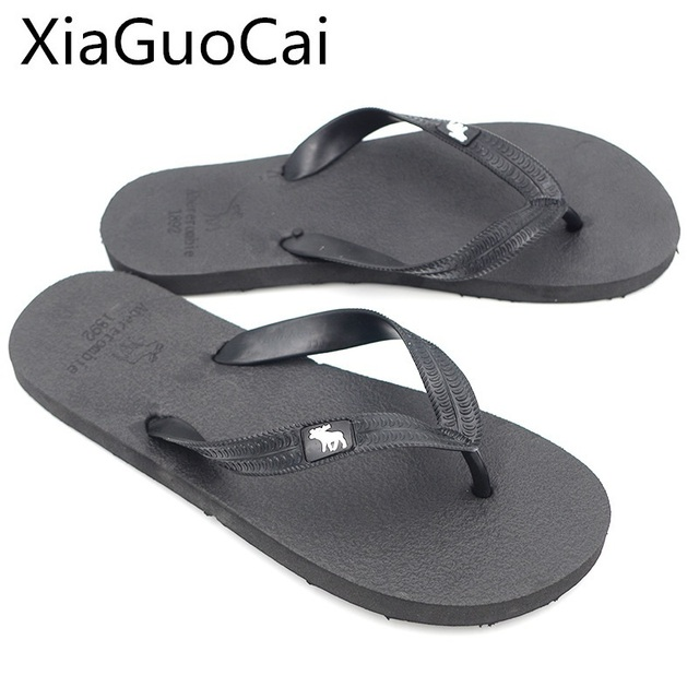 Fashion Men Slippers Summer Beach Flip Flops for Male Fashion Solid Flat Outdoor Shoes Antiskid Outdoors Slippers Shoes