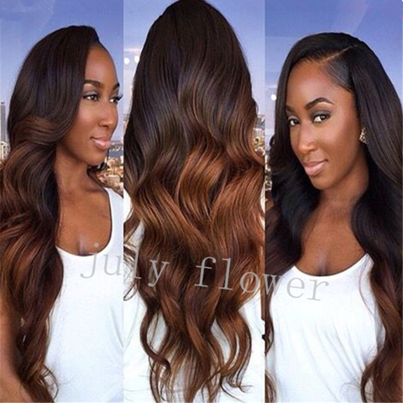 Two Tone Ombre Lace Front Wig Human Hair For Black Women ...